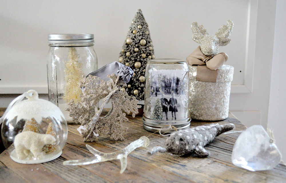 We love white and sparkles for the holidays because it adds an element of cozy and warmth to our homes.  No need to take down the white once Christmas is over, this color works all season long!
