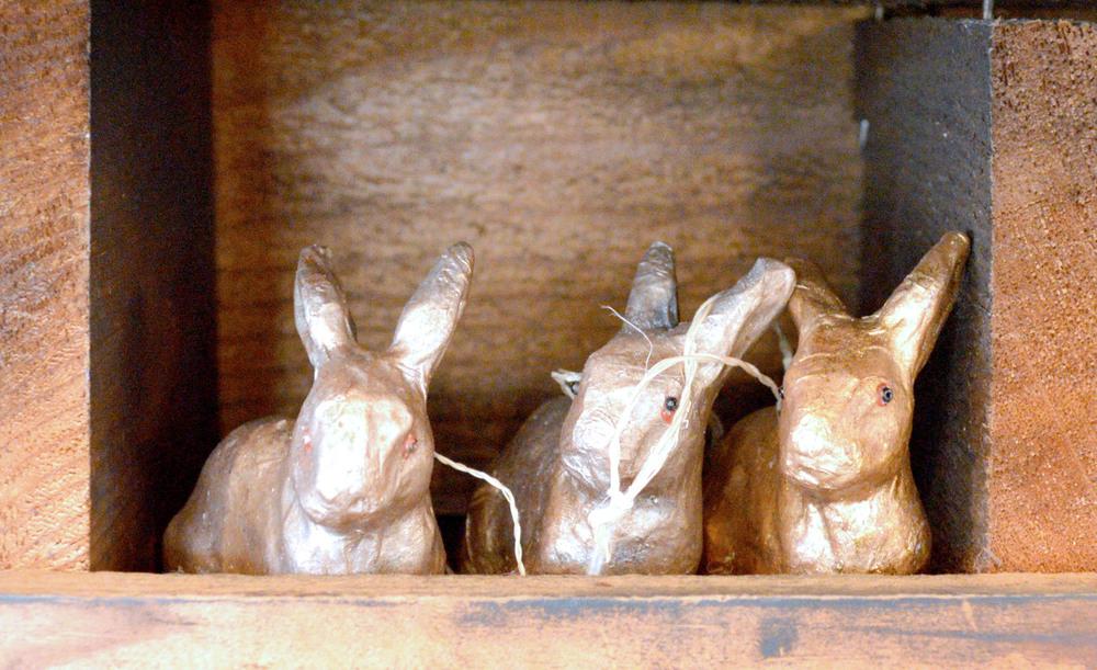 Cute gold bunnies