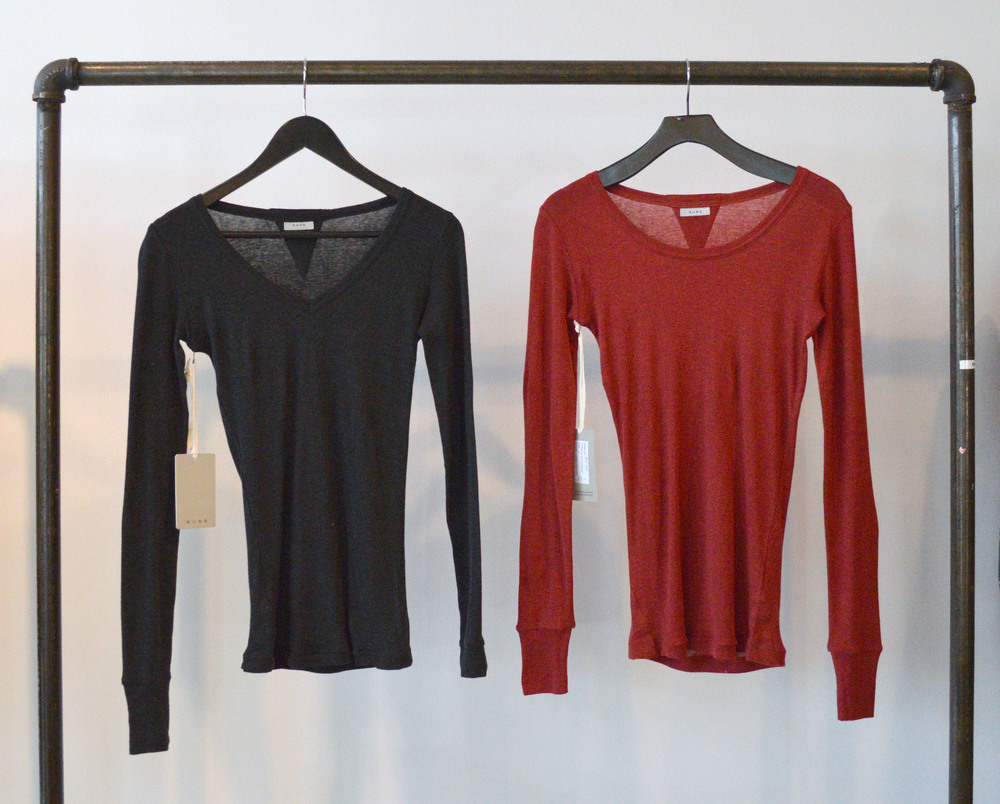 Daniela Scoopneck and Britta V-neck - $88