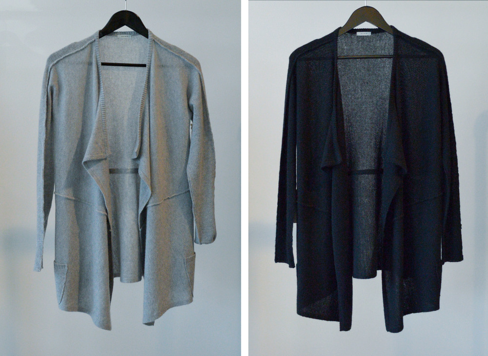 100% Cashmere Rita Cardigan in Gray or Black - $325
