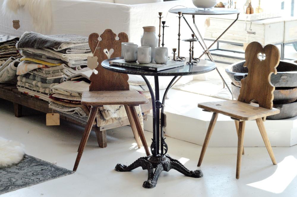 haus love wood chairs