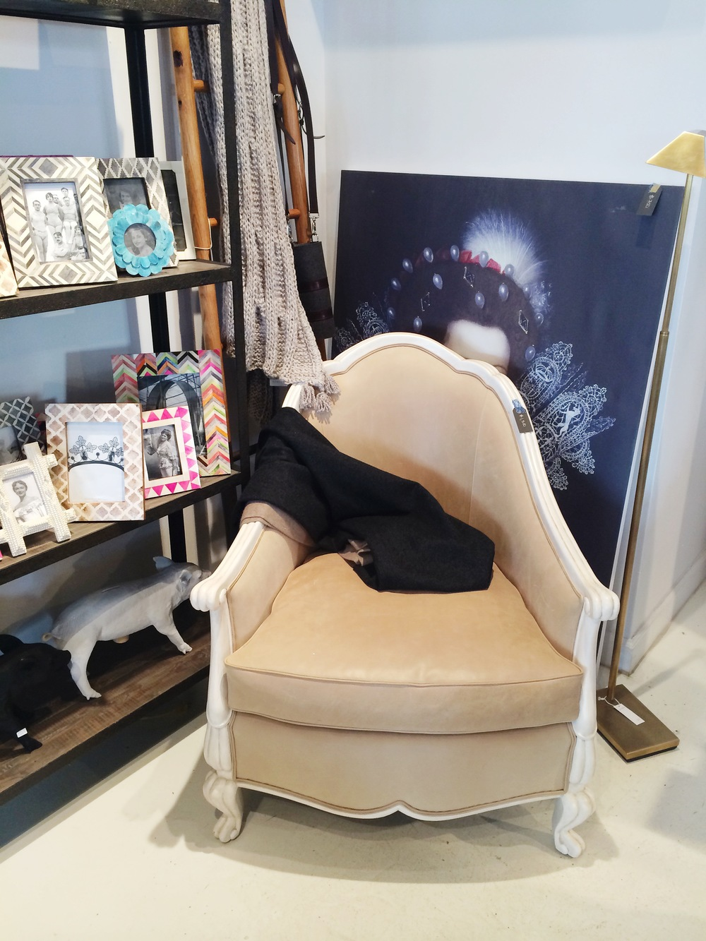 Oly Creamy Leather Belle Chair: was $3,550, now $1500