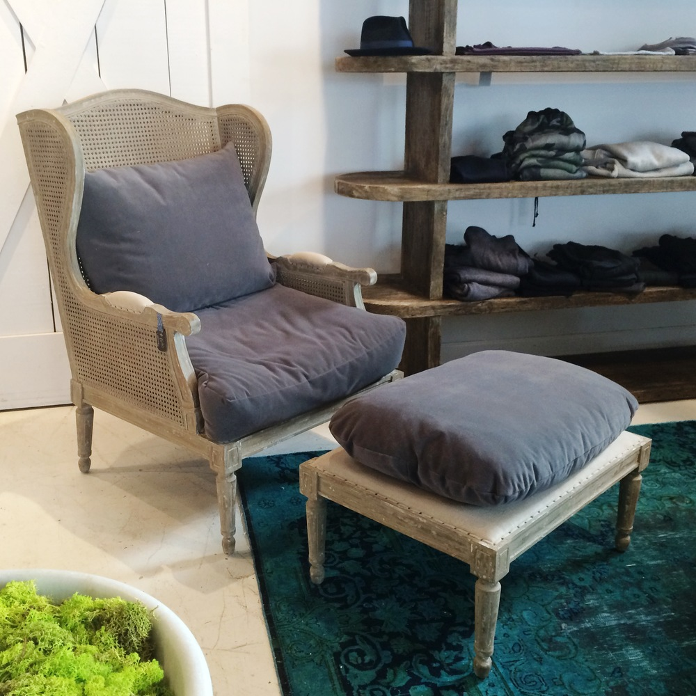 Aiden Gray Chair and Ottoman - was $2,800 now $1,960