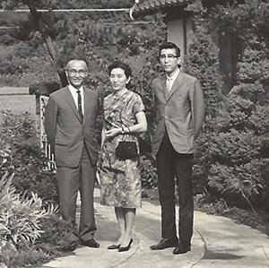 Kanji Miyasaka (left), Nagano, 1960s