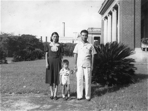 Kanji miyasaka y familia