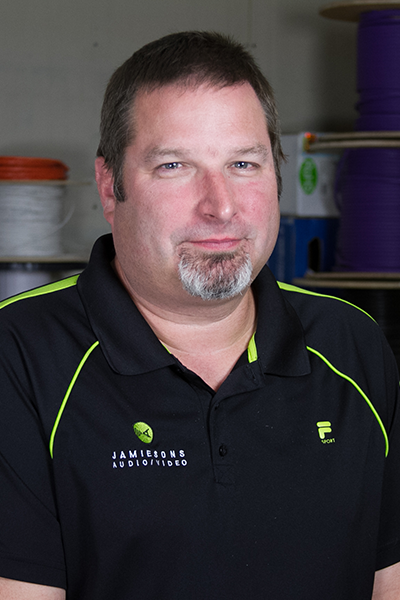 Larry Crawford, Installation/Programming Specialist Jamiesons' team member 16 years