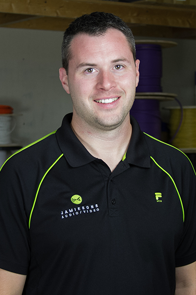 Jason Thielen, Custom Installation/Programming Manager Jamiesons' team member 11 years
