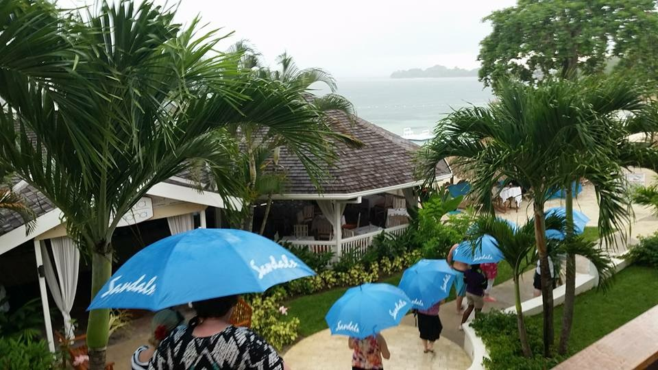In paradise, this is referred to as liquid sunshine... I'll take walking in the rain in Jamaica any day!