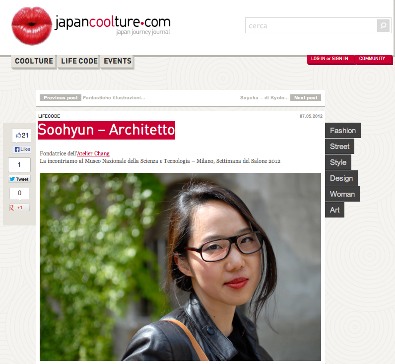 Soohyun Chang Interview featured in japancoolture.com