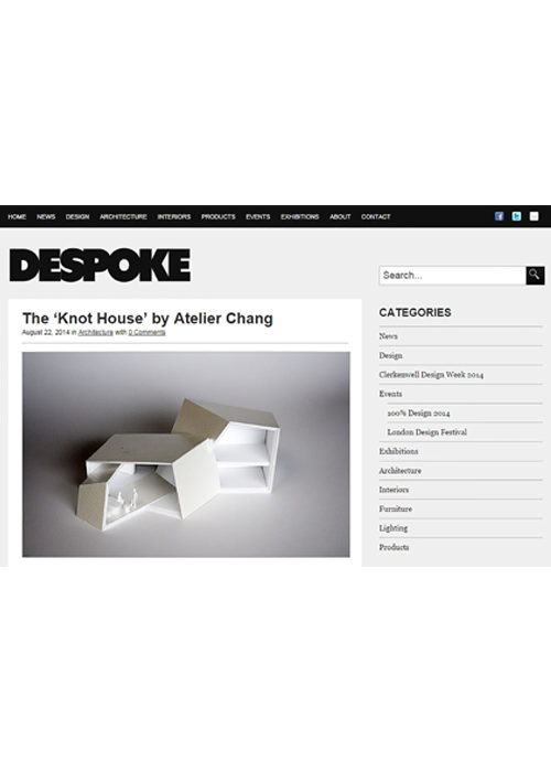 Despoke  08.2014   Knot House, Korea