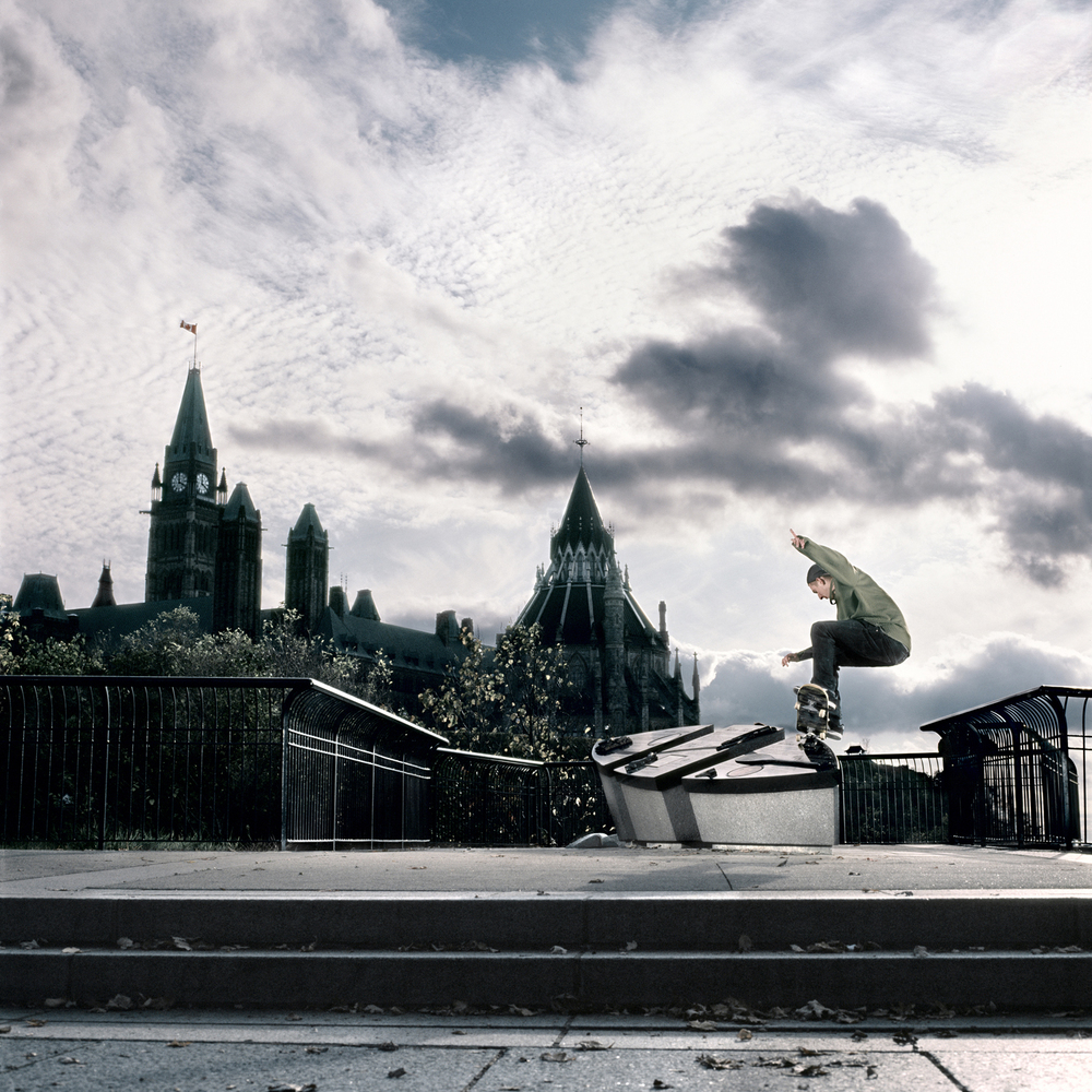 Max Fine, Ollie Up Frontside Nosegrind, Ottawa, ON 2011