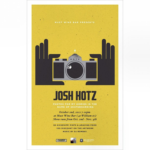 It's official! Hope to see you people there. 41 William St. Oct 2nd 7-10pm. -10% prints + @kichessippi beer sponsoring w/ $5 pints and free apparel w print purchase! (Taken with  Instagram )