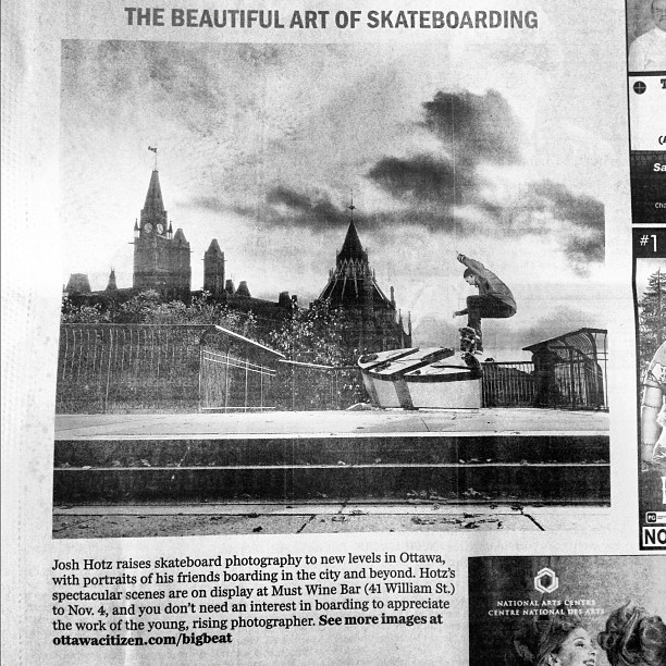 Check out the #arts section in the #ottawacitizen today to see a photo of @maxfine and a write up about my photo show!  (Taken with  Instagram )