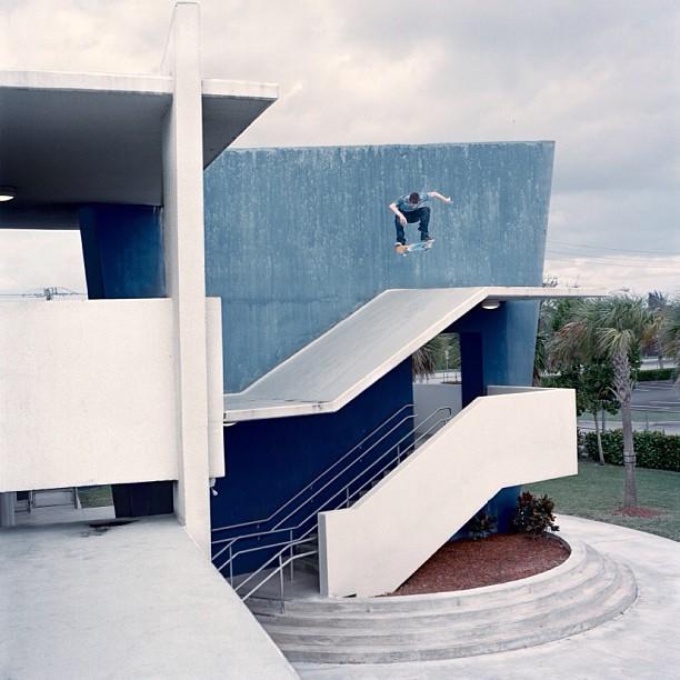 Austin Chartrand Fyfe, Kickflip, Miami 2011 see  www.joshhotz.com  for print inquiries. #miami #skateboarding #hasselblad #mediumformat #photography #concrete #skate @concreteskatemag issue 117