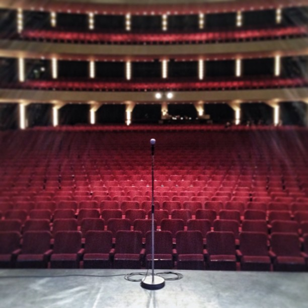 On stage before @jeremyhotz gets on at 7 #comedy #hotz #show #photography #ottawa (at National Arts Centre - Centre National des Arts)