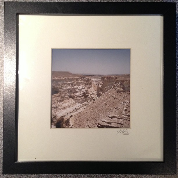 "Zin Valley, Negev Desert, Israel, 2011. 5""x5"" in a 9x9"" Frame. $50 Shot this photo after hiking up from the bottom in 50degree heat."
