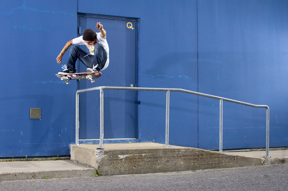 Here's a photo I shot during my trip to Quebec City last summer with Brandon, Will and the Exo Shop team. Super fun trip, travelings the best! Brandon DelBianco, Frontside 180