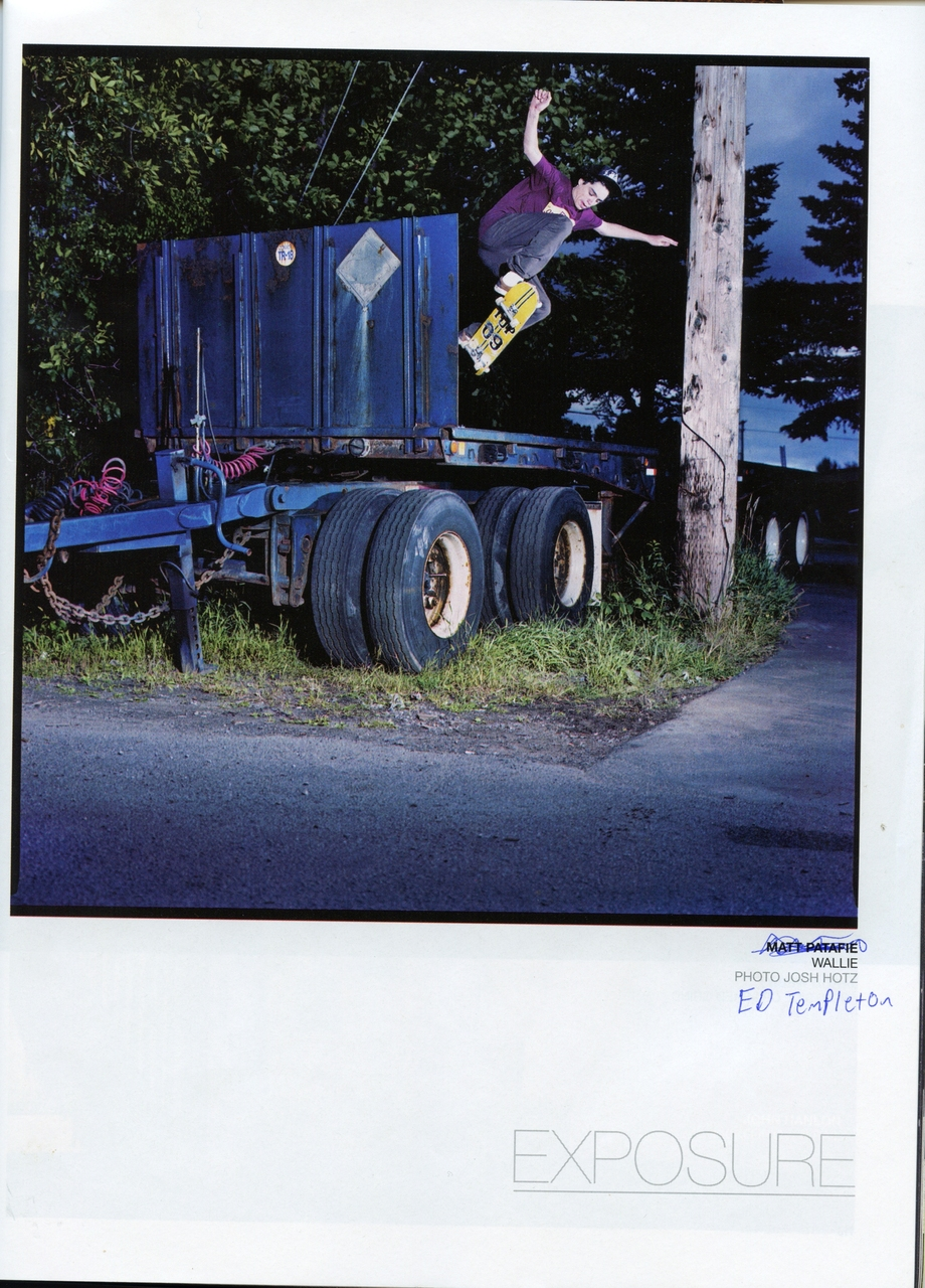 Matt Patafie. Wallie. Concrete Photo Annual 2009.