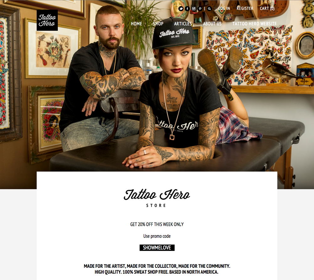 Click the image to check out their newly launched store, photo by yours truly!