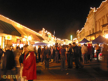 A Grass Valley Cornish Christmas view down Mill Street.
