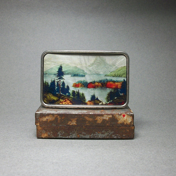 American Wilderness Belt Buckle by December Moon Design.