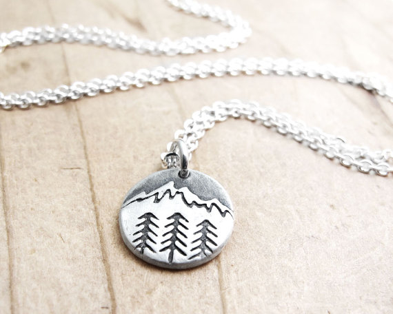 Tiny Mountain Necklace by Lulu Bug Jewelry