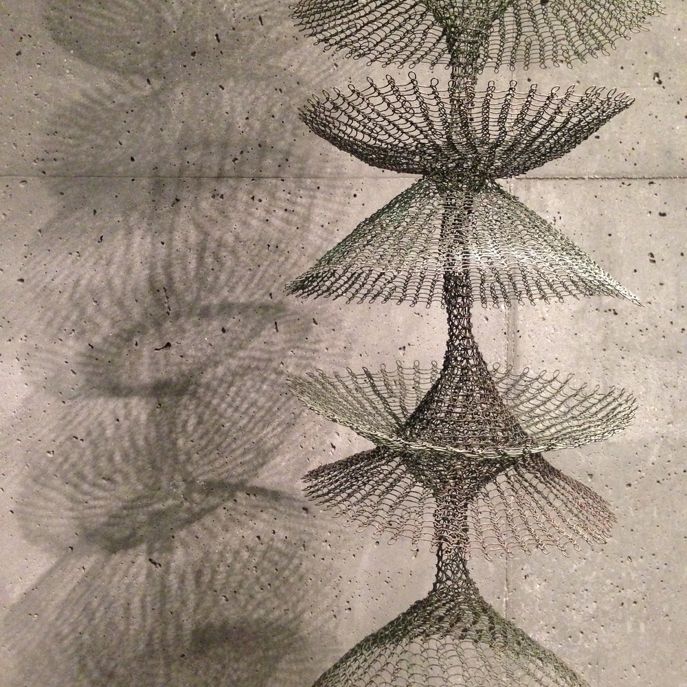 Ruth Asawa (1926-2013) ~ Biomorphic works of woven wire suspended and floating to create a beautiful play between positive and negative space.