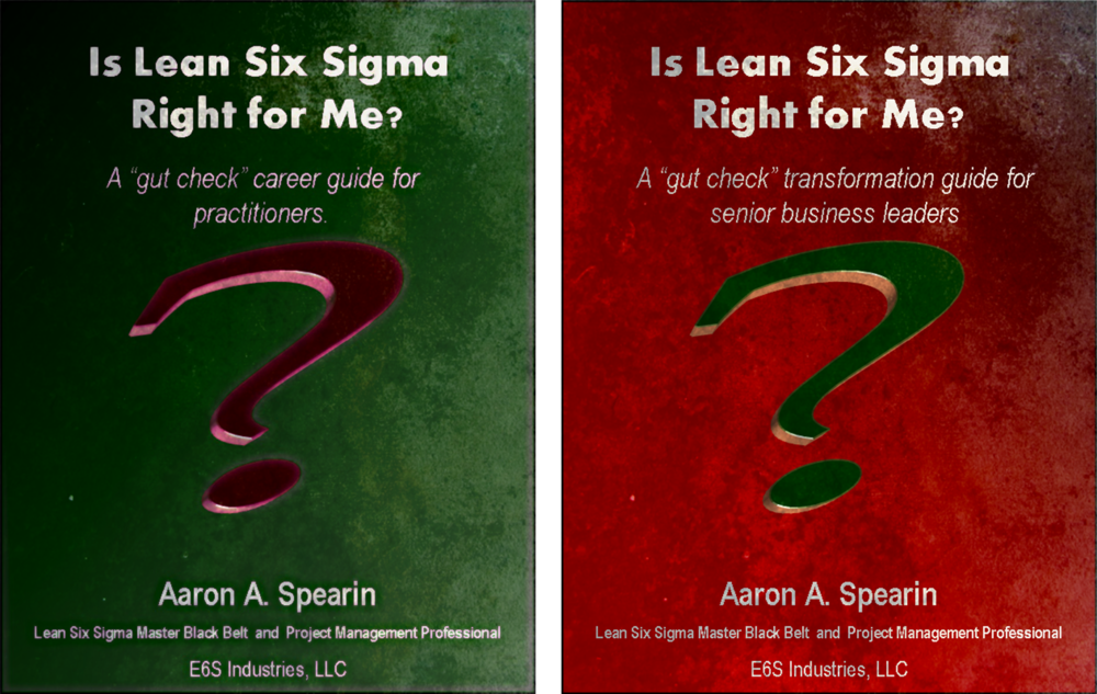 If you are considering a career in Lean Six Sigma or are contemplating Lean Six Sigma implementation, (or another major transformation), within your organization, these guides will give you a preview into the highs, lows, and true-life insights into what it takes to be an effective executive or a high performing change-agent during the difficult journey  Like no other resource, these guides allow you to test whether or not you have the fortitude to engage in Lean Six Sigma as part of your business or career.