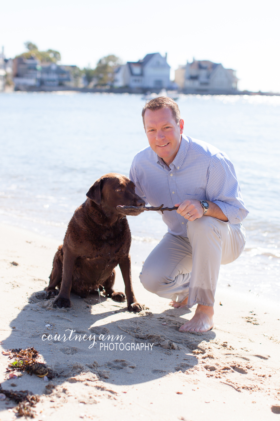 fairfield_county_family_beach_session_dad_and_dog