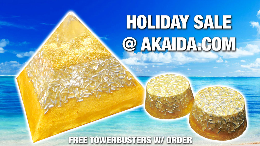 Summer Sale - Up to 40% off, Free Tower Buster Orgonite with every order! (Towerbuster promotion for USA Orders Only) http://www.akaida.com/store