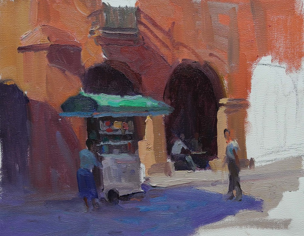 PHIL STARKE Online workshop course -  City Street Scenes & Architecture painting in oils