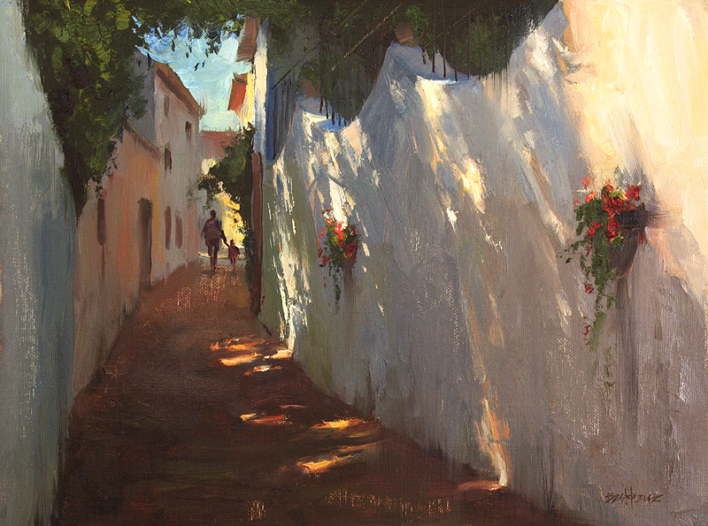 kenn backhaus oil painting spain