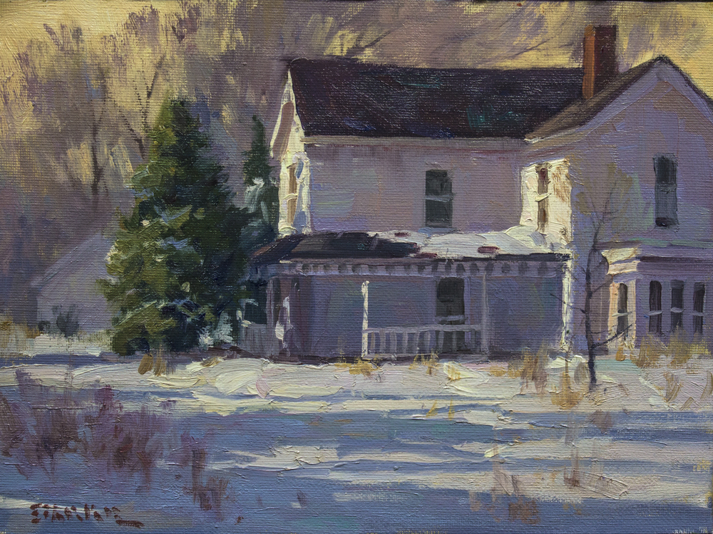 phil starke,oil painting,snow