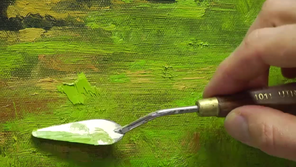 GABOR SVAGRIK Online workshop course -  landscape painting in oils - learn to paint greens, rocks, trees, and mountains