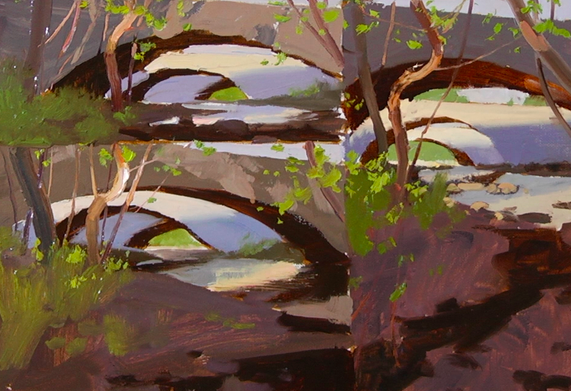 KENN BACKHAUS landscape Online workshop course - Study to Studio to painting in oils