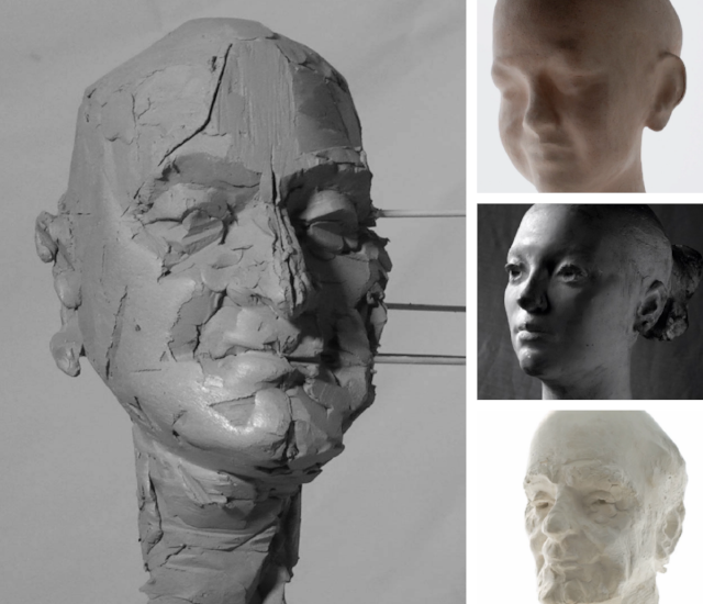 simon kogan,clay portrait
