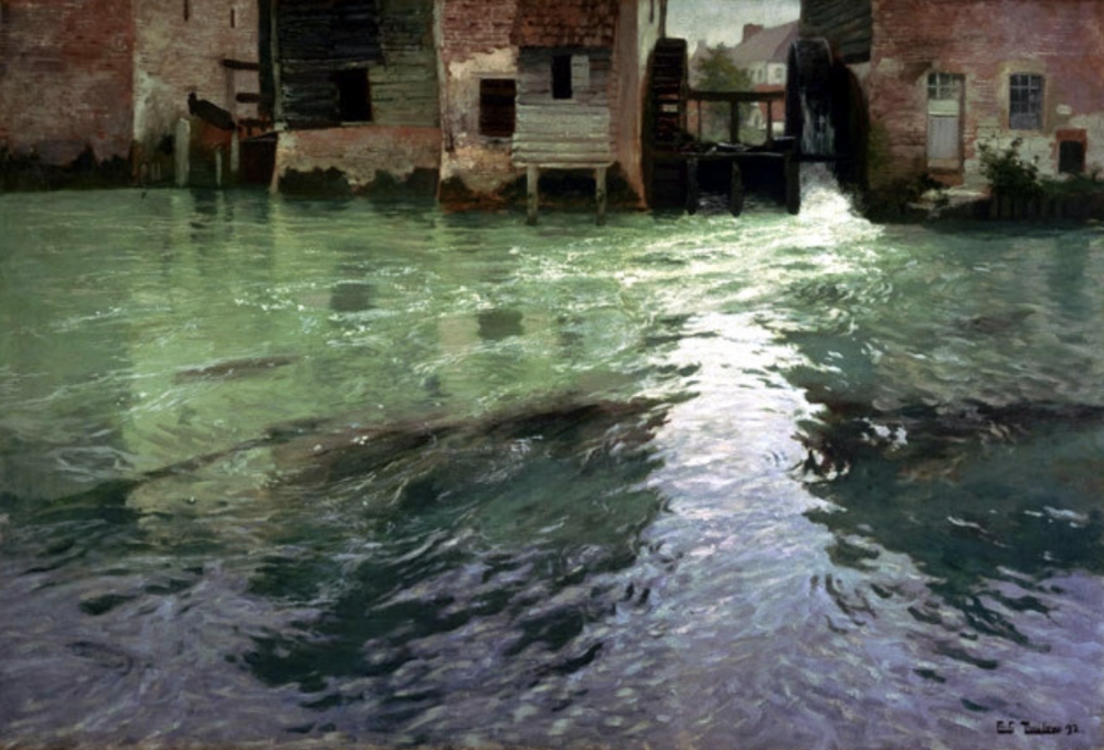 Frits Thaulow (1847-1906) Watermill
