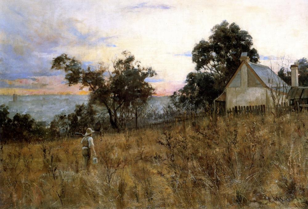 Hawthorn Frederick McCubbin (1886) Winter Evening
