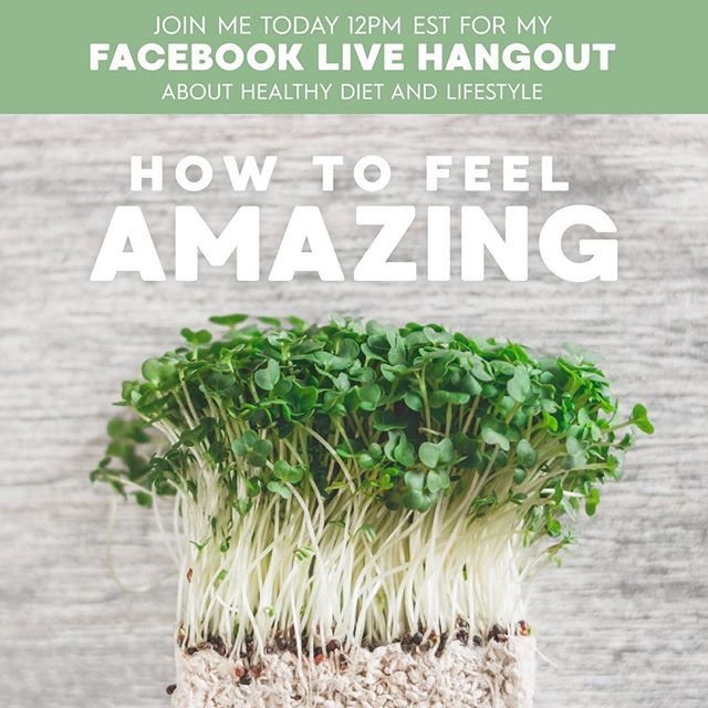 Join me today at noon to learn how to optimize your health to feel amazing.  Link to Facebook in my bio.
