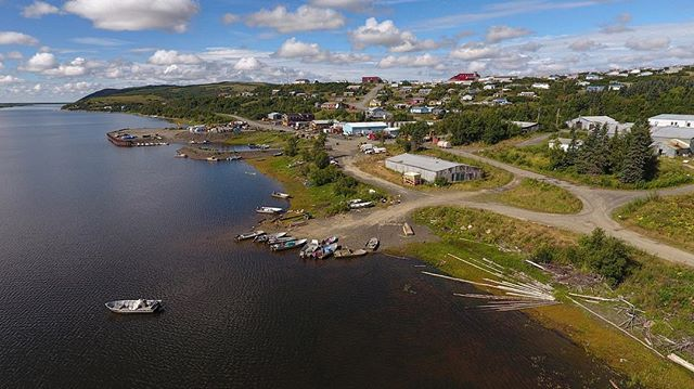A little tiny village that likes to catch fish. . . #yukonriver #westernalaska #yupikvillage