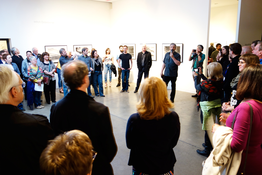"Mark Sink speaking during the opening of ""playing with beauty""!"