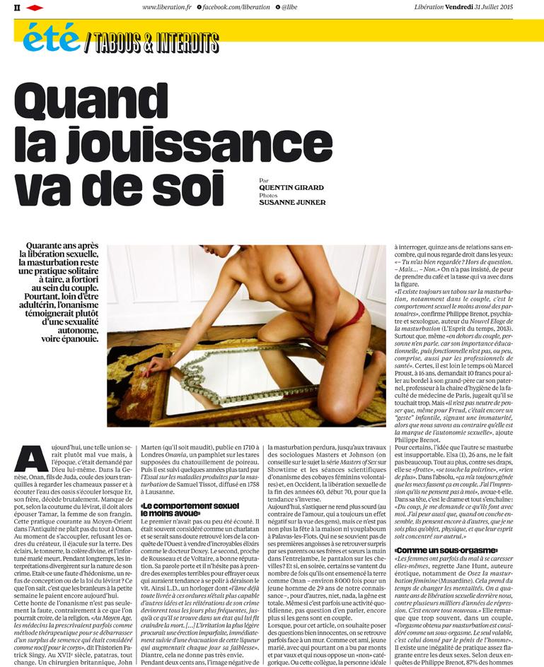 Publication for Libération, July 2015