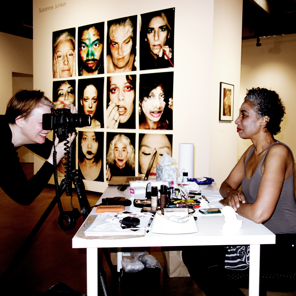 "ID-Identity shooting performance at ""playing with beauty""."