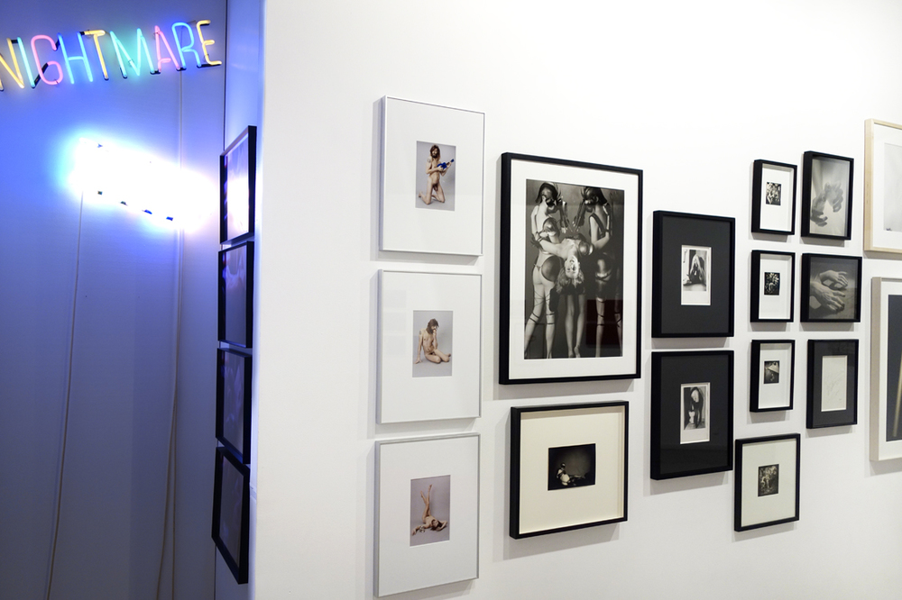 "Installation view ""  mauvais genre"" at Addict galerie, Paris France."
