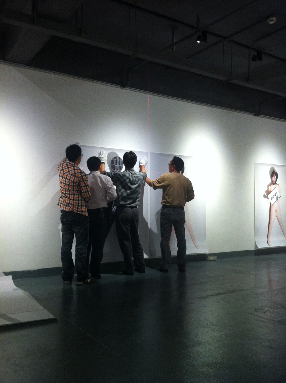 """art gang bang"", Tongqi art center, Shanghai, China, 2012."
