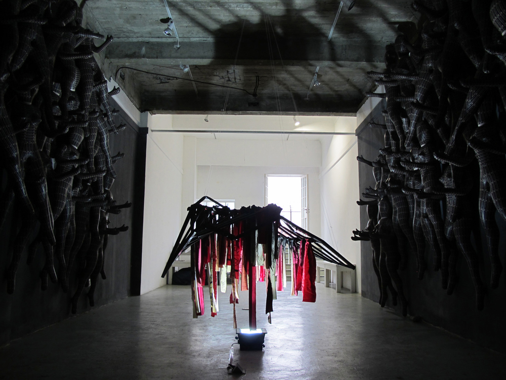 Installation view  ,   mixed media, stage候台BACK Shanghai, 2011
