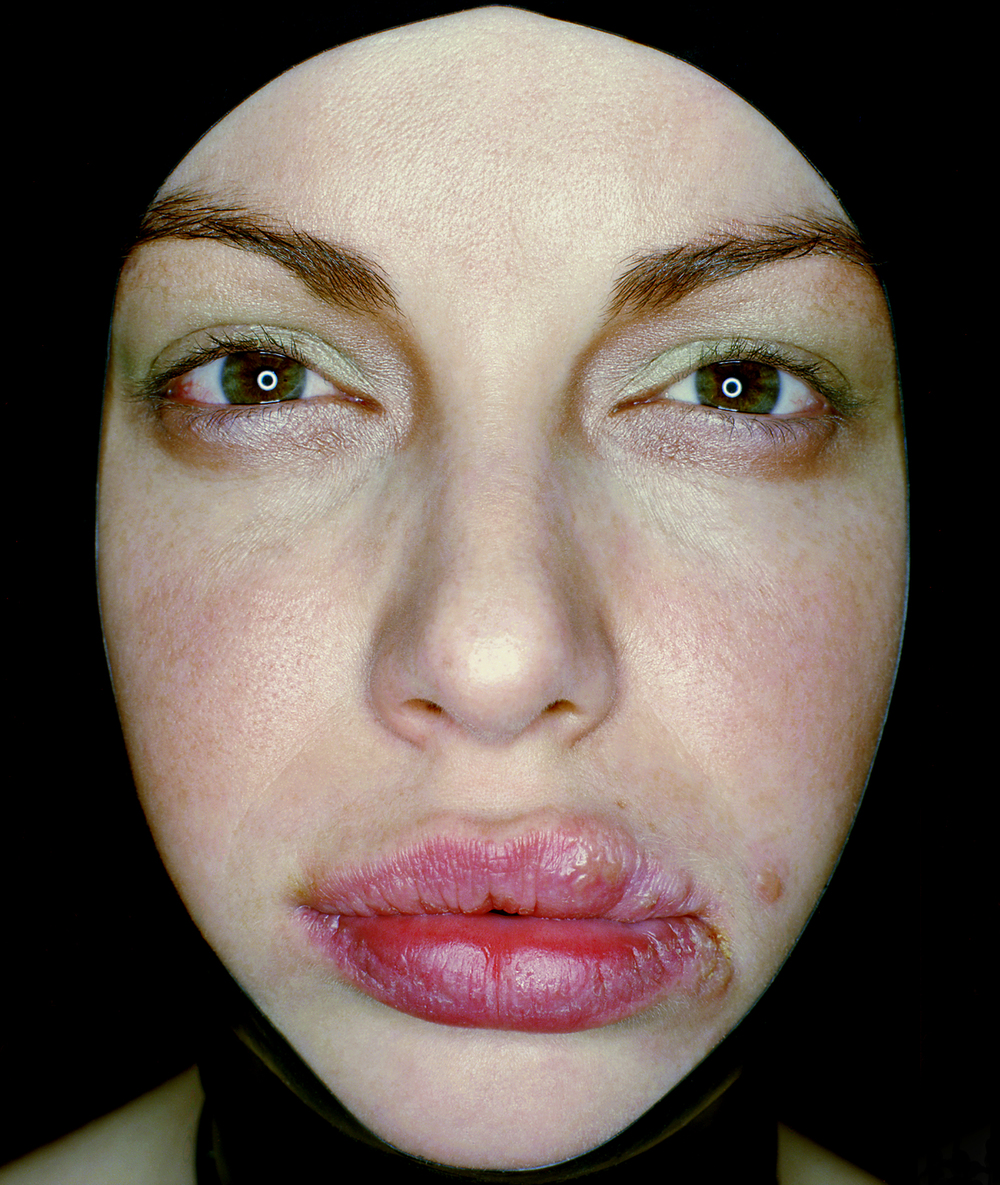 untitled #69  , self portrait, 2002, lambda print, 50 cm x 60 cm.
