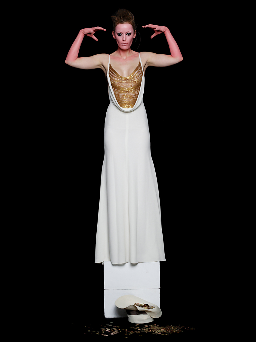 self portrait wearing Alexander McQueen for Technikart magazine, 2003