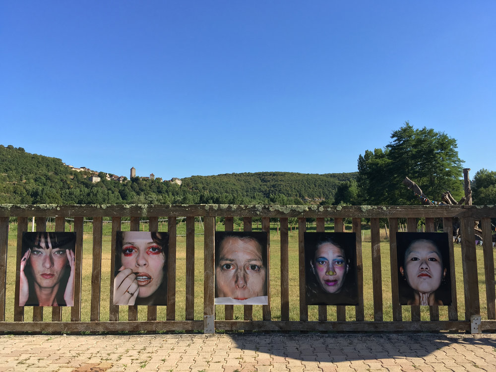 ID-Identity by Susanne Junker , side specific installation, 16 lambda prints, 80 cm x 60 cm, for the 1st edition of the Montvalent Art Festival, Montvalent, France, 2016