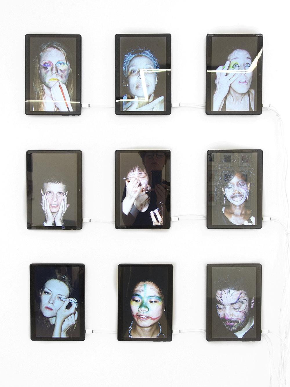 "Installation view, Re-Searching Identity"", LauferArt Galerie, Belgrade, Serbia."